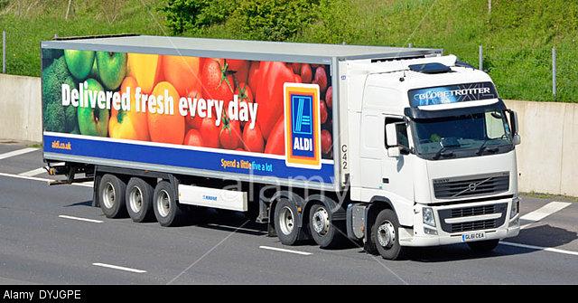 Aldi supermarket delivery truck